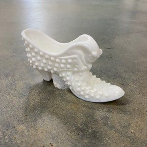 Fenton Milk Glass Shoe